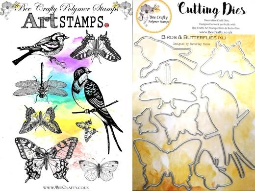 art-stamps-birds-butterflies-xl-stamps-dies-bundle