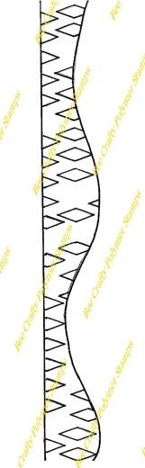 bee-crafty-art-stamps-art-journal-border-diamond-wave