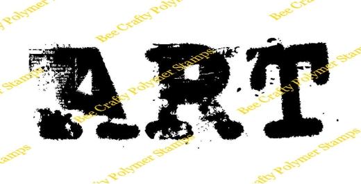 bee-crafty-art-stamps-art-journal-words-art