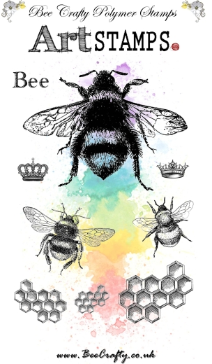 bee-crafty-art-stamps-bee-monarchy