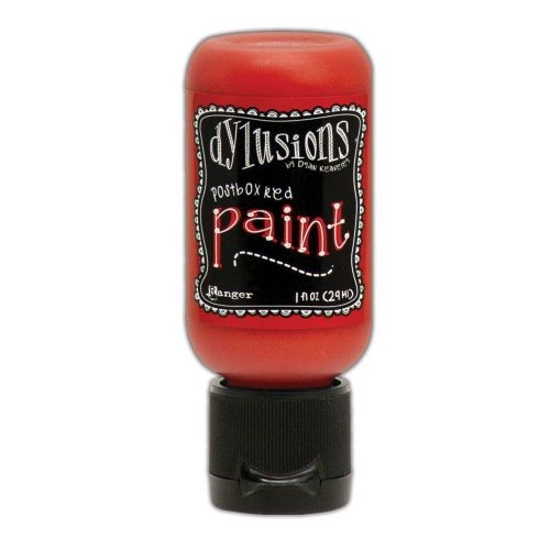 dylusions-paint-postbox-red