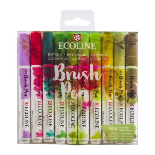 ecoline-brush-pens-10-sets-botanic